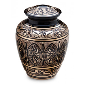 Black and Gold Cremation Urn