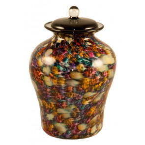 Luce Desert Hand Blown Glass Cremation Urn