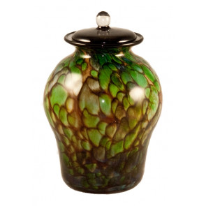 Luce Forest Hand Blown Glass Cremation Urn