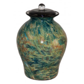 Luce Sky Hand Blown Glass Cremation Urn