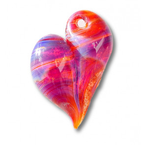 Majestic Purple Heart Cremation Pendant