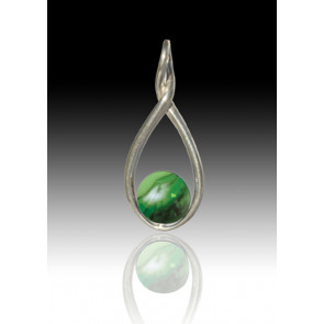 Melody Twist Cremation Pendant - Malachite - Sterling Silver