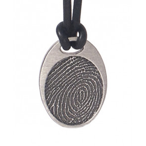 Noble Bronze Fingerprint Classic Oval Charm
