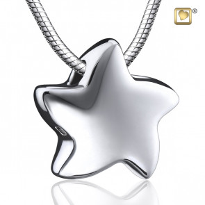 Silver Angelic Star Cremation Pendant