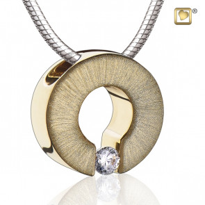 Gold Omega Two Tone Cremation Pendant