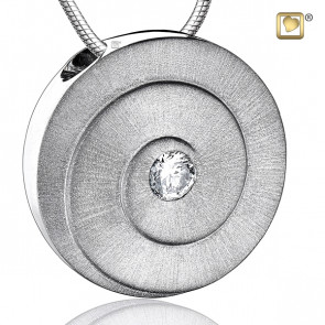 Silver Eternity Two Tone Cremation Pendant