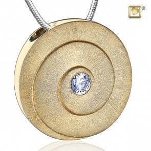 Gold Eternity Two Tone Cremation Pendant