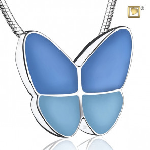 Wings of Hope Blue Butterfly Cremation Pendant