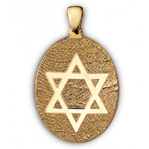 Classic Large Star of David Fingerprint Charm