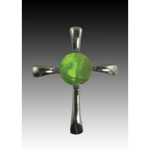 Symphony Cross Pendant - Peridot - Sterling Silver