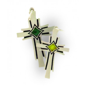 Phoenix Cross Charm - Medium