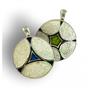 Phoenix Family Ties Fingerprint Charm with Colored Resin