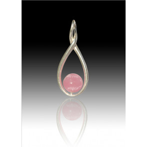 Melody Twist Cremation Pendant - Pink - Sterling Silver