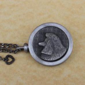 Poodle Pet Memory Cremation Medallion