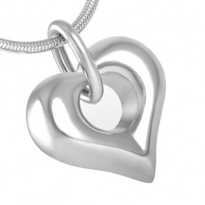 Puffy Heart Cremation Pendant