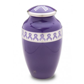 Awareness Purple Cremation Urn