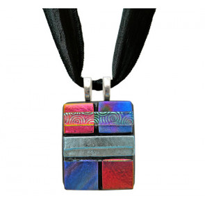 Quilted Dichroic Glass #04
