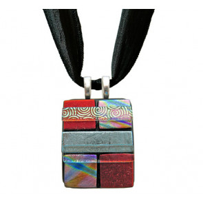 Quilted Dichroic Glass #05