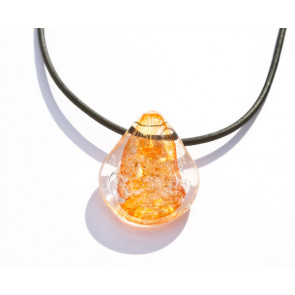 Radiant Orange Cremation Pendant