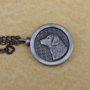 Retriever Pet Memory Cremation Medallion