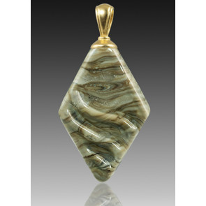 Rhombic Pendant - Fossil