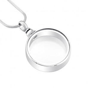 Ring of Love Cremation Pendant with Windows