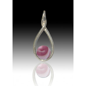 Melody Twist Cremation Pendant - Rose Swirl - Sterling Silver