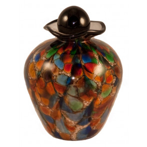 Bella Autumn Hand Blown Glass Pet Cremation Urn