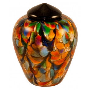 Classico Autumn Hand Blown Glass Pet Cremation Urn