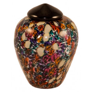 Classico Desert Hand Blown Glass Pet Cremation Urn
