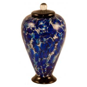 Deco Water Hand Blown Glass Pet Cremation Urn