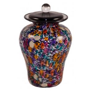 Luce Desert Hand Blown Glass Pet Cremation Urn