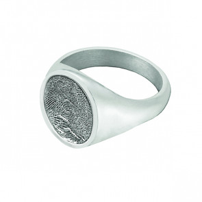 Signet Ring in Sterling Silver - Fingerprint