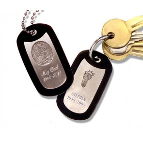 Noble Bronze Key Tag Fingerprint Charm Style 2