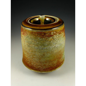 The Sun on Agate Soda Fired Ceramic Cremation Urn