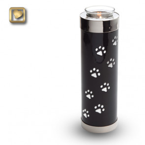 TeaLight Midnight Tall Pet Cremation Urn for Ashes