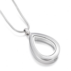 Teardrop Cremation Pendant with Windows