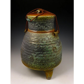 The Ancient Jade Soda Fired Ceramic Cremation Urn