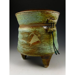The Man In Jade One Soda Fired Ceramic Cremation Urn