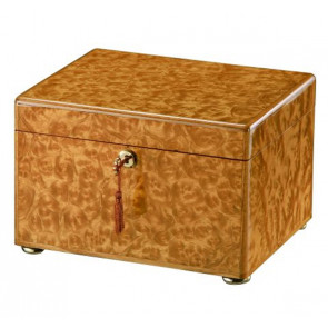 The Tranquility Memorial Chest Urn in Light Burl