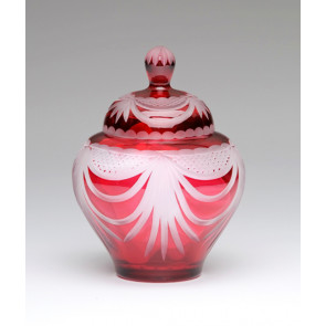 Angel Wings Ruby Red Lead Crystal Glass Cremation Urn for Ashes