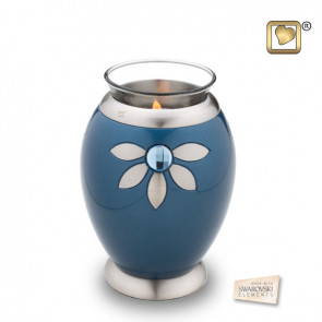 Tealight Nirvana Azure Cremation Urn for Ashes