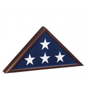 Military Veteran Flag Case with Cherry Finish