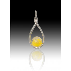 Melody Twist Cremation Pendant - Yellow - Sterling Silver
