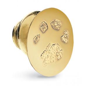 Fingerprint Charm Tie Tac in 14k Yellow Gold