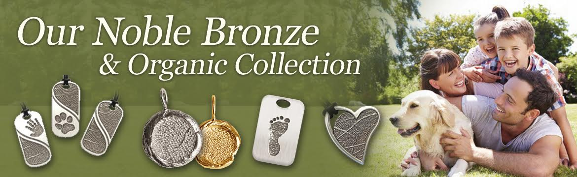 Noble Bronze and Organic Fingerprint Jewelry